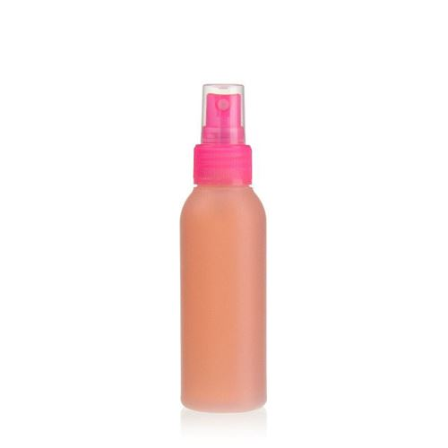"100ml HDPE-fles ""Tuffy"" natuur/roze met sproeikop"