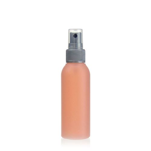 "100ml HDPE-fles ""Tuffy"" natuur/zilver met sproeikop"