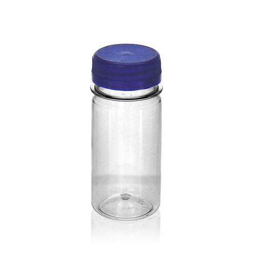 "100ml PET brede hals fles ""Everytime"" blauw"
