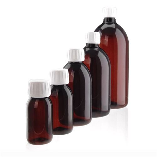 100ml PET-flaske, brun