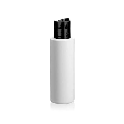 """100ml bottiglia HDPE """"Pipe"""" DiscTop nero"""