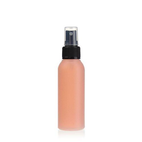 """100ml bottiglia HDPE """"Tuffy"""" natura/nero con erogatore spray"""