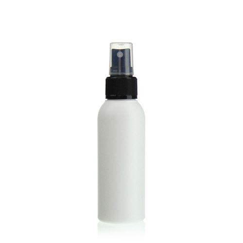 """100ml bottiglia HDPE """"Tuffy"""" nero con erogatore spray"""