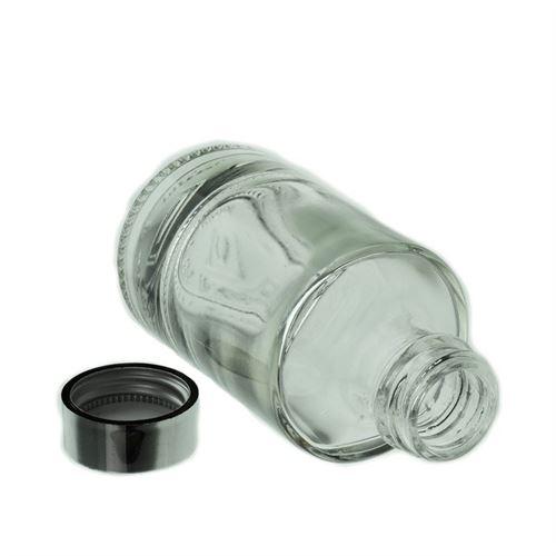"""100ml bottiglia in vetro chiaro """"Aventura"""" con GPI"""