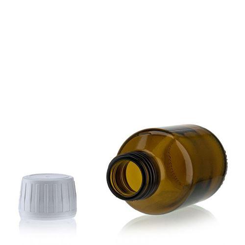 100ml bottiglia medica marrone con chiusura originale di 28mm