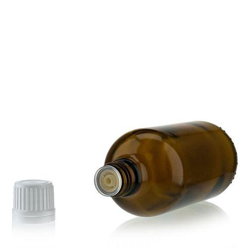100ml bottiglia medica marrone con chiusura a goccia