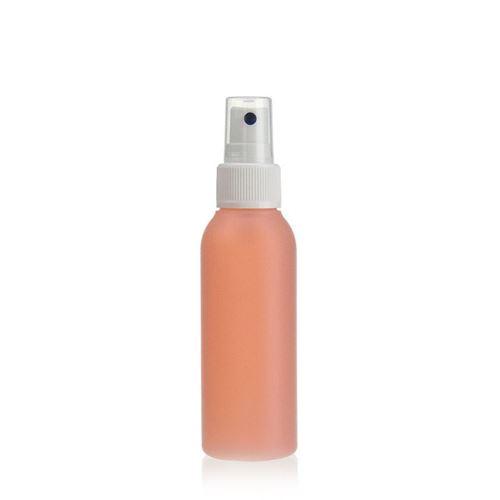 """100ml bouteille HDPE """"Tuffy"""" nature/blanc avec tête de pulvérisation"""
