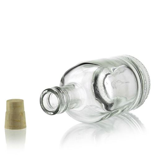 """100ml bouteille en verre clair """"Linea Uno"""""""