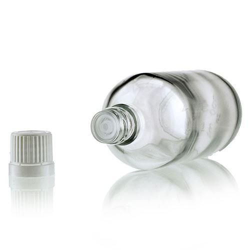 100ml klare Medizinflasche mit Tropfverschluss