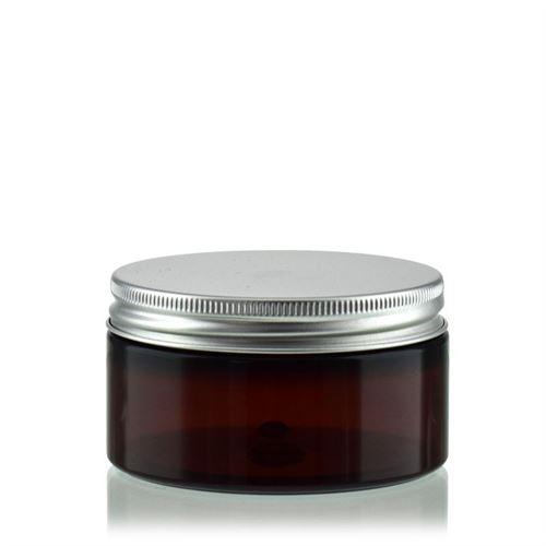 "100 ml PET-pot ""Victor's Best"" bruin, aluminium schroefdeksel"