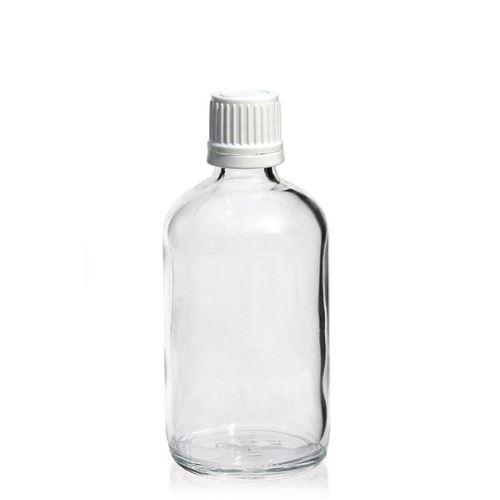 100ml bottiglia medica trasparente con chiusura originale