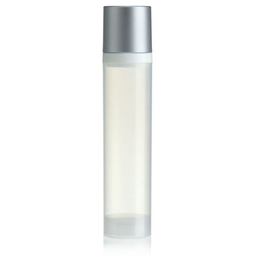 100ml airless pump natural/silver cap