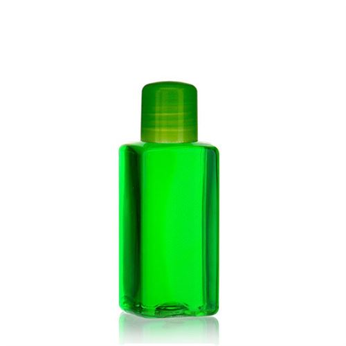 """100ml Bottiglia PET """"Carlo"""" verde con chiusura a spruzzo"""