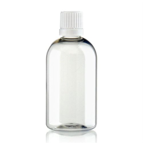 "100ml Bottiglia PET trasparente  ""Easy Living"" con chiusura originale"
