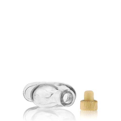 """100ml Bottiglia in vetro chiaro """"Cuore"""""""