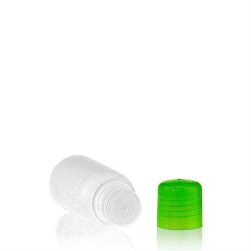"""100ml HDPE-Flasche """"Tuffy"""" grün mit Spritzeinsatz"""