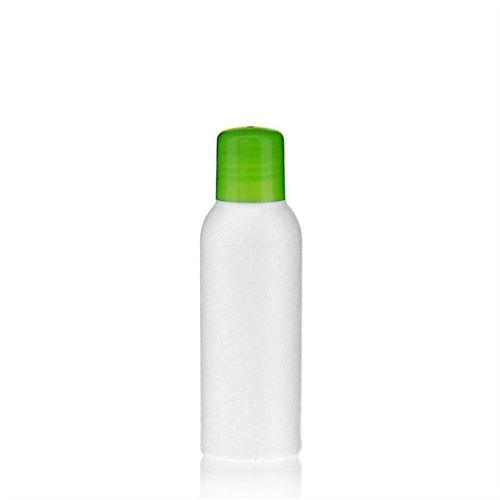 """100ml HDPE-flaske """"Tuffy"""" grøn med sprøjteindsats"""