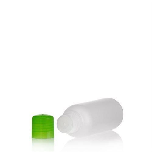 """100ml HDPE-flaske """"Tuffy"""" natur/grøn med sprøjteindsats"""