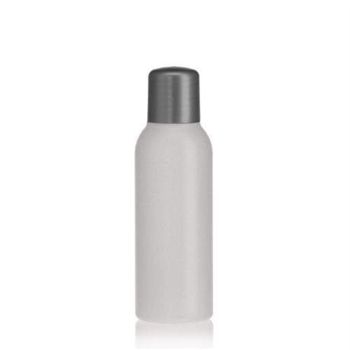 """100ml HDPE-flaske """"Tuffy"""" natur/sølv med sprøjteindsats"""