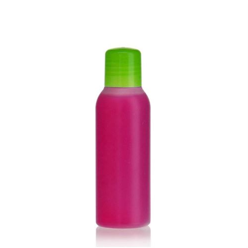 "100ml HDPE bottle ""Tuffy"" natural/green with dispensing tip"