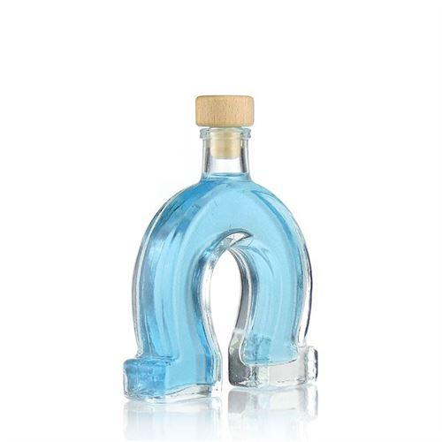 """100ml bouteille en verre clair """"Fer à cheval"""""""
