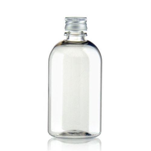 "100ml PET-Flasche-klar ""Easy Living"" mit Aluminiumverschl."