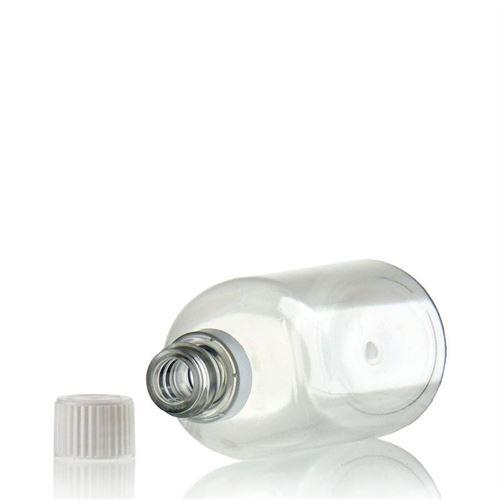 """100ml PET-Flasche-klar """"Easy Living"""" mit Originalitätsverschl."""