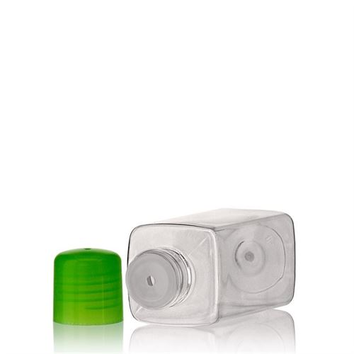 "100ml PET bottle ""Carl"" green with dispensing tip"