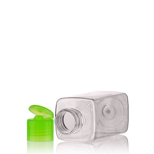 """100ml PET-flaske """"Karl"""" grøn, med klaplåg"""