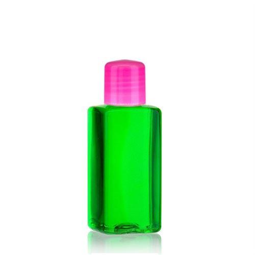 """100ml PET-flaske """"Karl"""" lyserød med sprøjteindsats"""