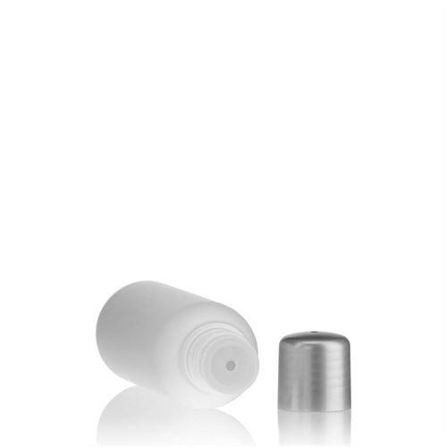 """100ml bottiglia HDPE """"Tuffy"""" argento con chiusura a spruzzo"""