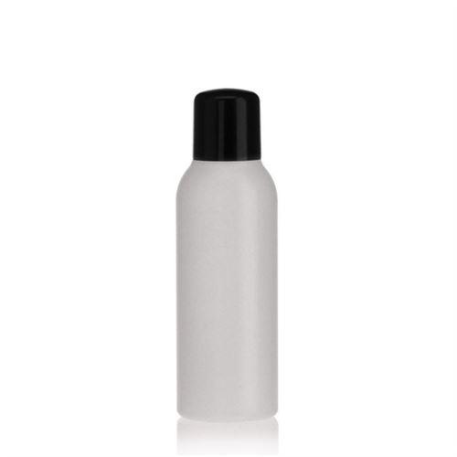 """100ml bottiglia HDPE """"Tuffy"""" natura/nero con chiusura a spruzzo"""