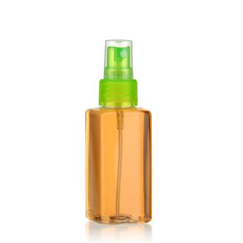 """100ml bottiglia PET """"Carlo"""" verde con erogatore spray"""