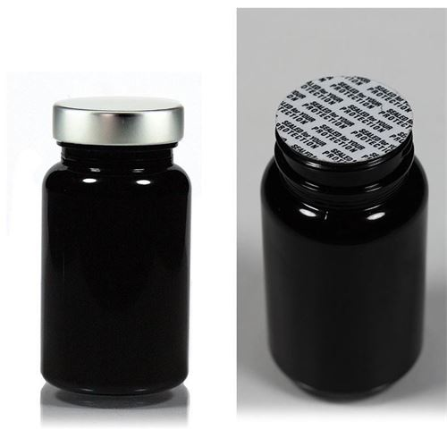 """100ml barattolo PET """"Packer"""" con capsula in aluminio"""