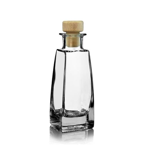 """100ml bottiglia in vetro chiaro """"Timmy"""""""