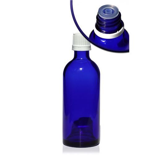 100ml bottiglia  medica blu con contagocce a caduta