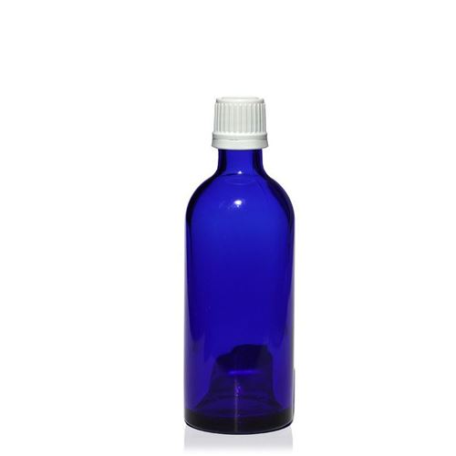 100ml Bottiglia  medica blu con chiusura originale