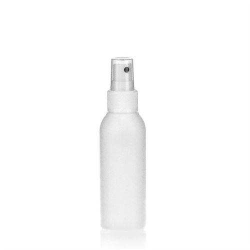 """100ml bouteille HDPE """"Tuffy"""" blanc avec tête de pulvérisation"""