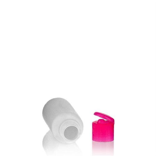"""100ml bouteille HDPE """"Tuffy"""" rose avec couvercle à clapet"""
