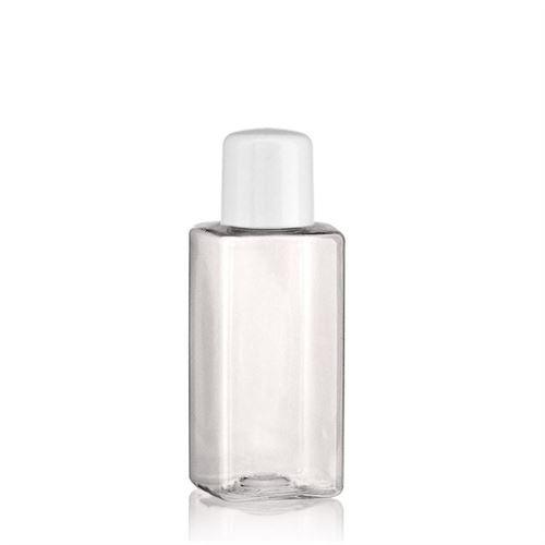 "100ml bouteille PET ""Karl"" blanc avec doseur"