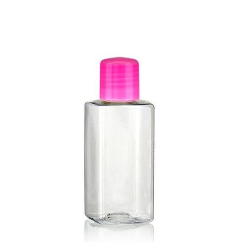 "100ml bouteille PET ""Karl"" rose avec doseur"