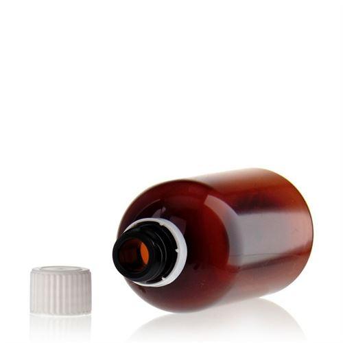 """100ml bouteille PET brun """"Easy Living"""", fermeture d'originalité"""
