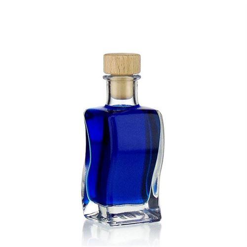 """100ml bouteille en verre """"Vague"""""""