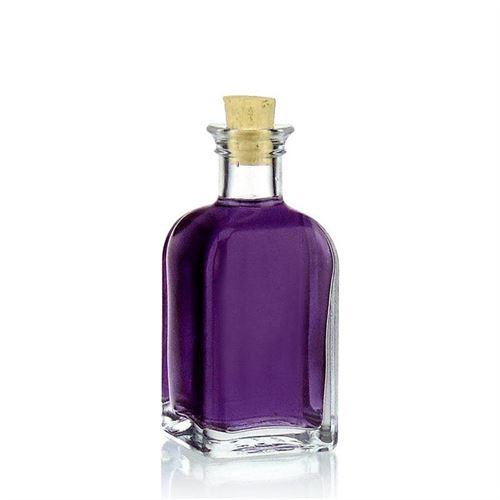 """100ml bouteille verre clair """"Apo Carrée"""""""