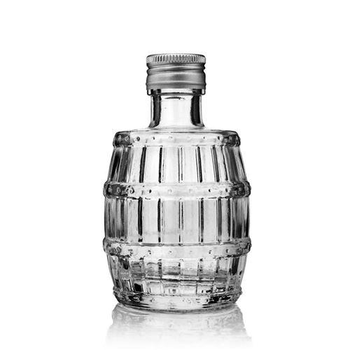 """100ml bouteille verre clair """"tonneau"""""""