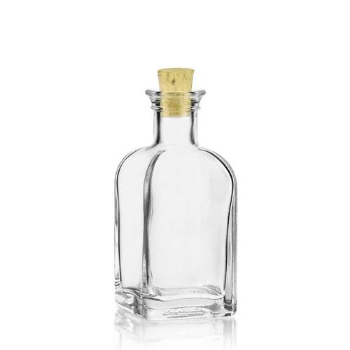 "100ml flaske i klart glas ""Apo Carree"""
