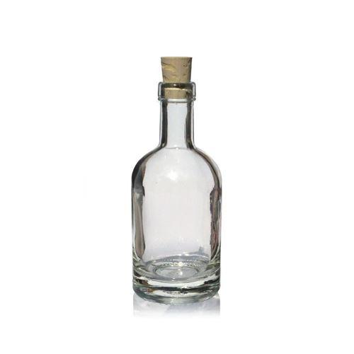 "100ml flaske i klart glas ""Linea Uno"""