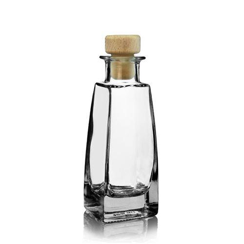 "100ml flaske i klart glas ""Timmy"""