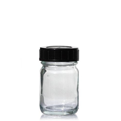 100ml glazen pot clear met wijde hals
