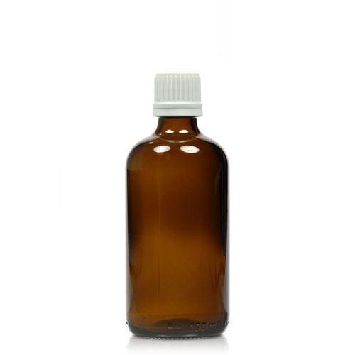 100ml brun medicinflaske med orginality-lock